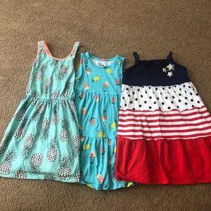 Three girls size 5 sundresses